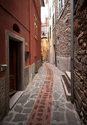Photograph - Cinque Terre Alleyway by Mike Reid