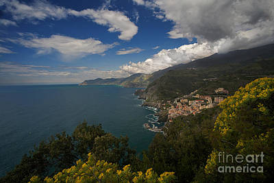 Photograph - Cinque Terre Coastline by Mike Reid