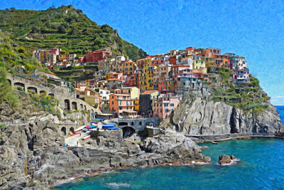 Park Deans Holidays Painting - Cinque Terre Itl3403 by Dean Wittle