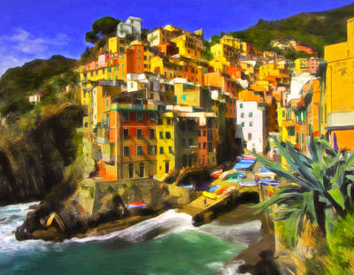 Ramp Painting - Cinque Terre by Michael Pickett