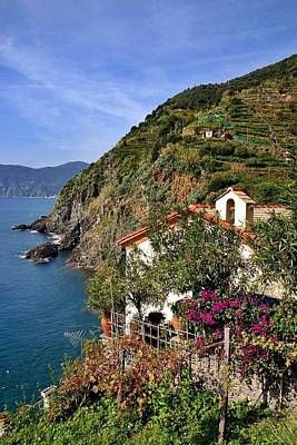 Cinque Terre Seaside Art Print by Henry Kowalski
