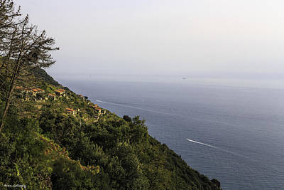 Photograph - Cinque Terre View by Fran Gallogly