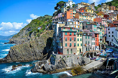 Photograph - Cinque Terre Village No 1 by Amy Fearn