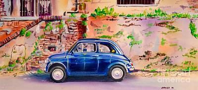 Fiat Car Painting - Cinquecento by Marco Ippaso