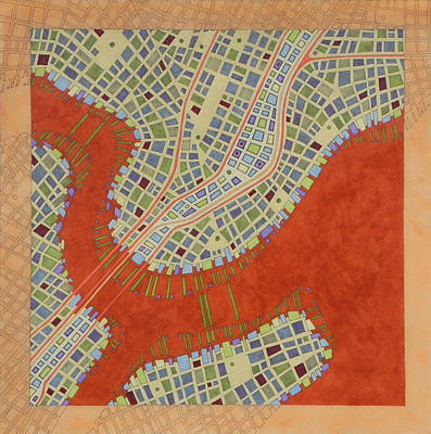 City Planning Mixed Media - Cipher N. 14 by Federico Cortese