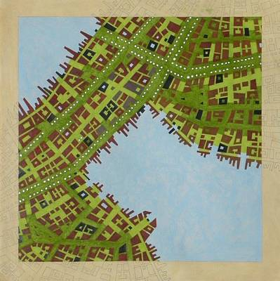 City Planning Mixed Media - Cipher N. 16 by Federico Cortese