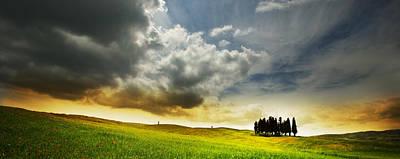 Photograph - Cipressi Panaroma by John Galbo
