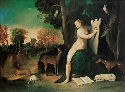 Circe And Her Lovers In A Landscape Art Print by Dosso Dossi