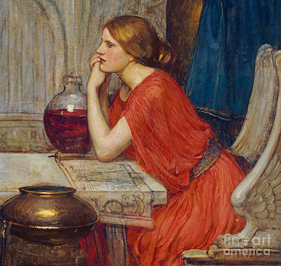 Leaning Painting - Circe by John William Waterhouse