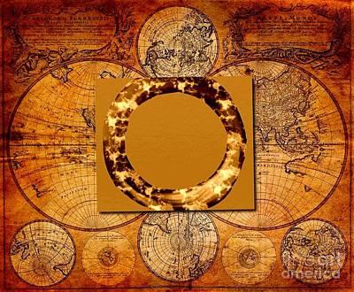 Digital Art - Circle  1 Meditation Earth by Saundra Myles