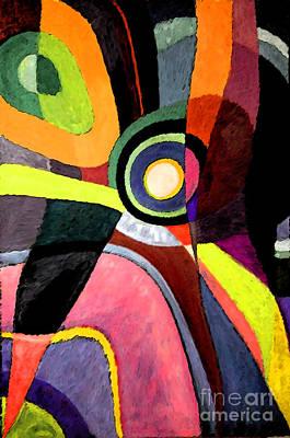 Painting - Circle Abstract #4 by Karen Adams