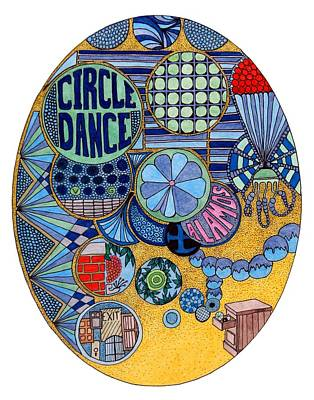 Drawing - Circle Dance by Gregory Carrico