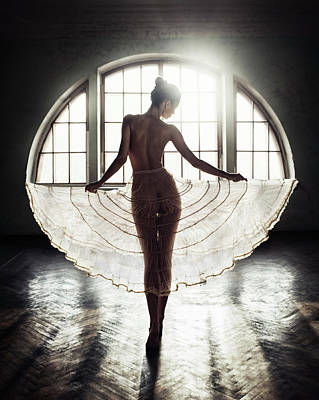 Angel Photograph - Circle by David Dubnitskiy
