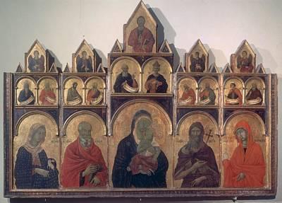 Circle Duccio Di Buoninsegna, Polyptych Art Print