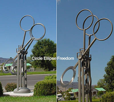 Sculpture - Circle Ellipse Freedom-sold by Tom Brewitz