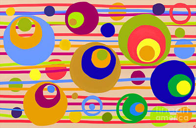 Painting - Circle Fun by Anita Lewis