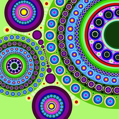 Circle Motif 121 Art Print by John F Metcalf