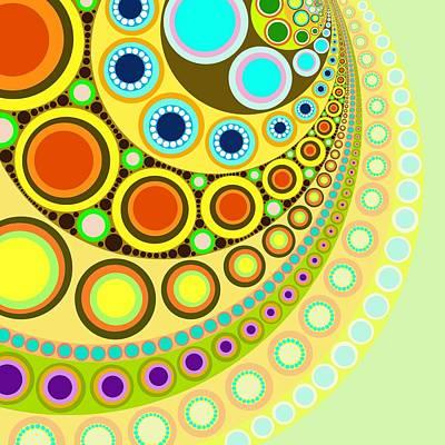 Tribal Art Painting - Circle Motif 146 by John F Metcalf