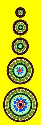 Tribal Art Painting - Circle Motif 239 by John F Metcalf