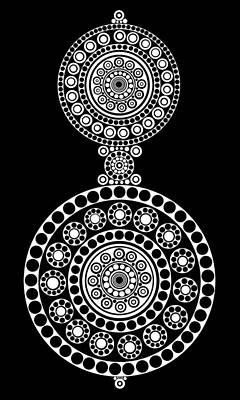Tribal Art Painting - Circle Motif 242 by John F Metcalf