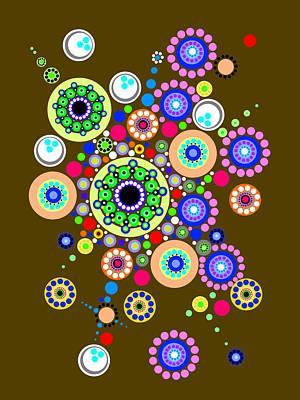 Circle Motif 254 Art Print by John F Metcalf