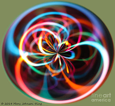 Mary King Photograph - Circle Of Color by Mary  King