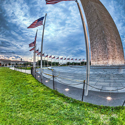 Photograph - Circle Of Flags by Sennie Pierson