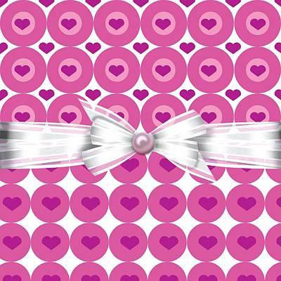 Valentines Day Digital Art - Circle Of Hearts by Debra  Miller