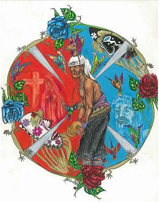 Yaqui Mixed Media - Circle Of Life  by Yoeme Arts
