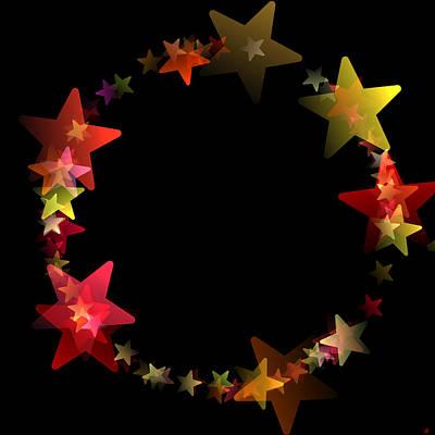 Constellation Digital Art - Circle Of Stars by Daniel Hagerman