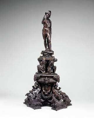Andirons Drawing - Circle Of Tiziano Aspetti, Andiron With Figure Of Mars by Quint Lox