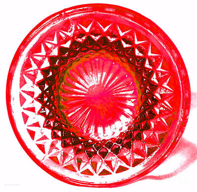 Digital Art - Circle Red by Anita Lewis