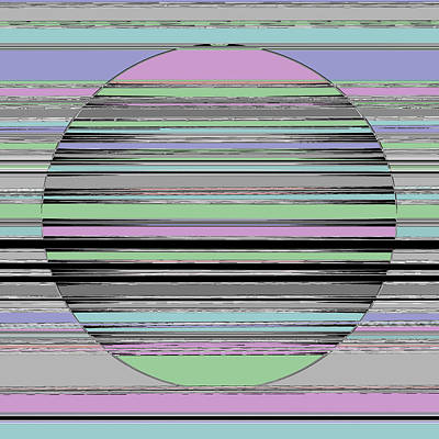 Stripes Painting - Circle Square  C2014 by Paul Ashby
