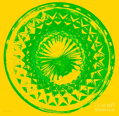 Digital Art - Circle Yellow by Anita Lewis
