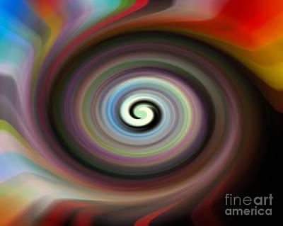 Expressionism Digital Art Drawing - Circled Carma by Luc Van de Steeg