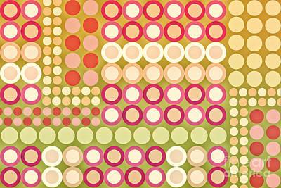 Circles Abstract One Art Print by Natalie Kinnear