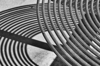 Photograph - Circles And Shadows 1 by Nadalyn Larsen