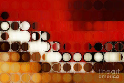 Circles And Squares 17. Modern Fine Art Art Print by Mark Lawrence