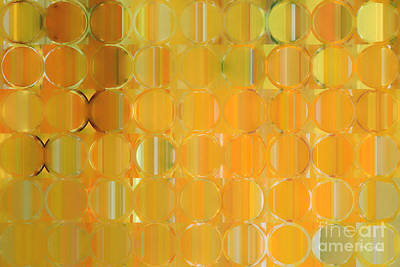 Circles And Squares 19. Big Painting Modern Abstract Fine Art Art Print by Mark Lawrence