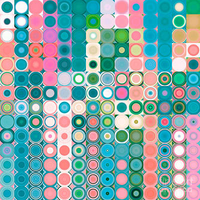 Circles And Squares 20. Modern Abstract Fine Art Art Print by Mark Lawrence