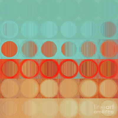 Circles And Squares 23. Modern Abstract Fine Art Art Print by Mark Lawrence