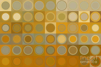 Beige Glass Painting - Circles And Squares 30. Modern Abstract Fine Art by Mark Lawrence