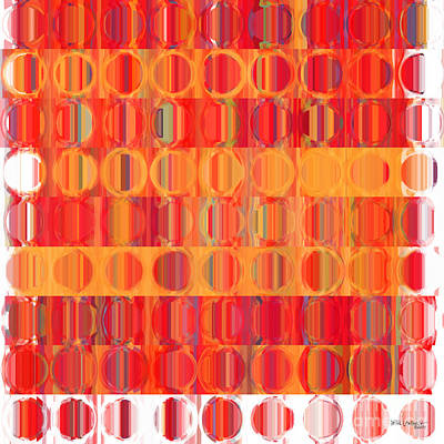 Circles And Squares 5. Modern Home Decor Art Art Print by Mark Lawrence