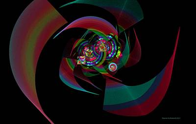 Digital Art - Circles Fleurs Squares N Twirls by Naomi Richmond