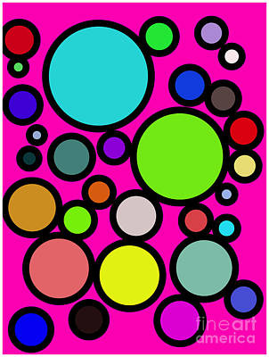 Circles Galore Art Print