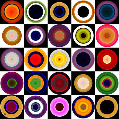 Engraving Digital Art - Circles In Squares by Gary Grayson