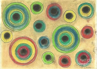 Pastel - Circles In The Sand by Tracey Williams