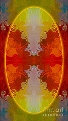Thomas Kinkade - Circles Making Love Abstract Circular Artwork by Omaste Witkowsk by Omaste Witkowski