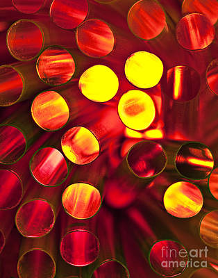 Circles Of Light Art Print by Linda D Lester