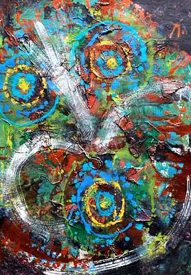 Painting - Circles To The Third Power by Cleaster Cotton
